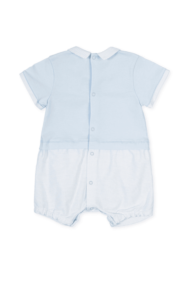 Blue Embroidered Romper - Jacob Matthews