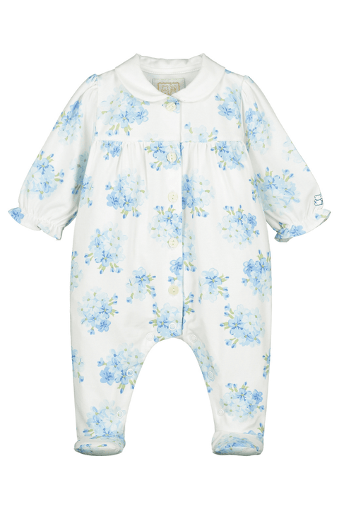 Blue Floral All In One With Headband - Jacob Matthews