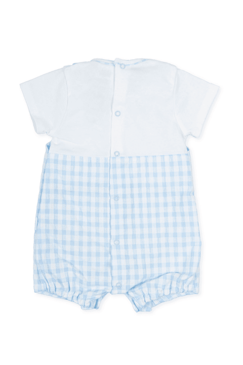 Blue Gingham Romper - Jacob Matthews