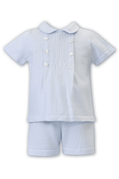 Blue Knitted Button Outfit - Jacob Matthews