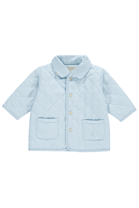 Blue Quilted Jacket - Jacob Matthews