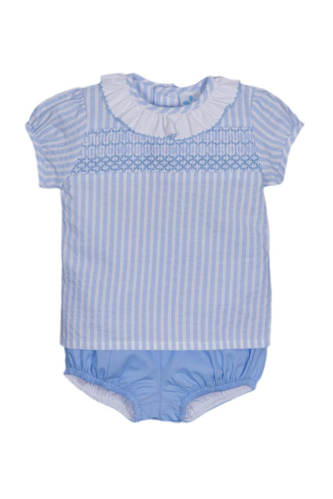 Blue Smocked Outfit - Jacob Matthews