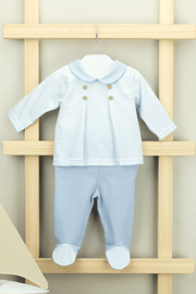 Blue Stripe Outfit - Jacob Matthews