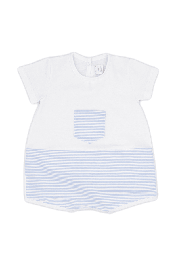 Blue Stripe Romper - Jacob Matthews