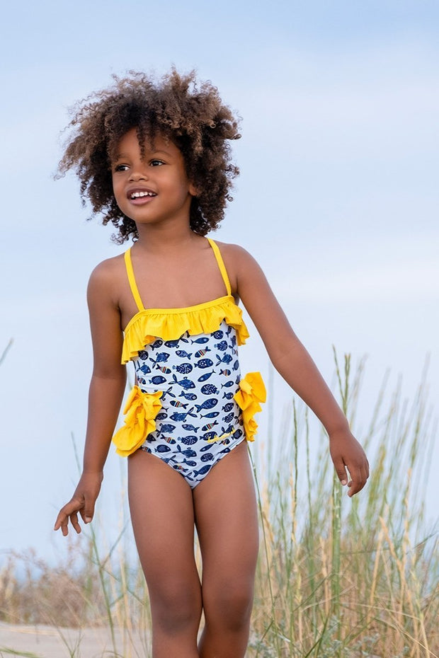 Bow Frill Swimsuit - Jacob Matthews