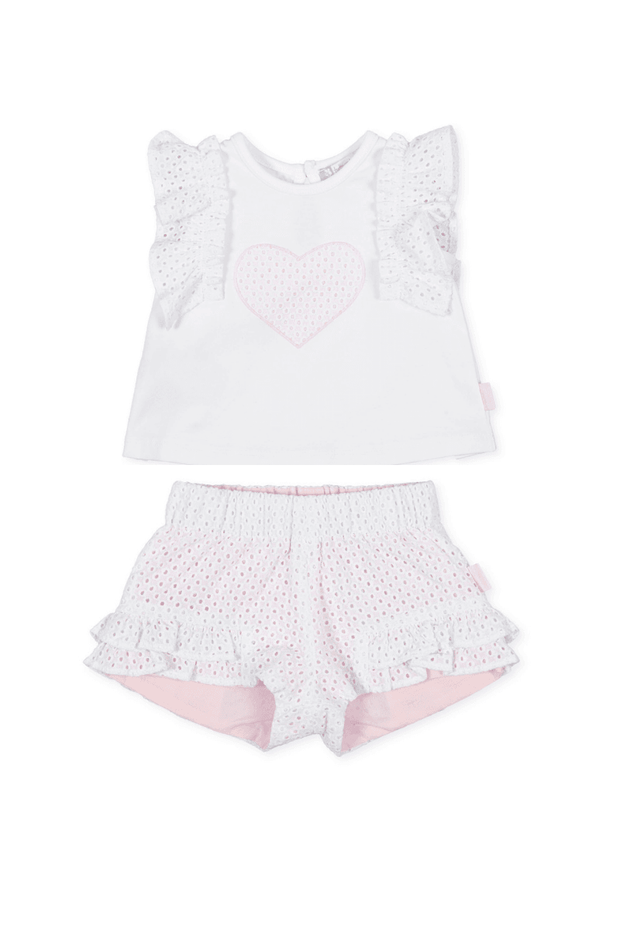 Broderie Anglaise Top And Shorts - Jacob Matthews