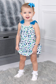 Dot Frill Dress And Bloomers - Jacob Matthews