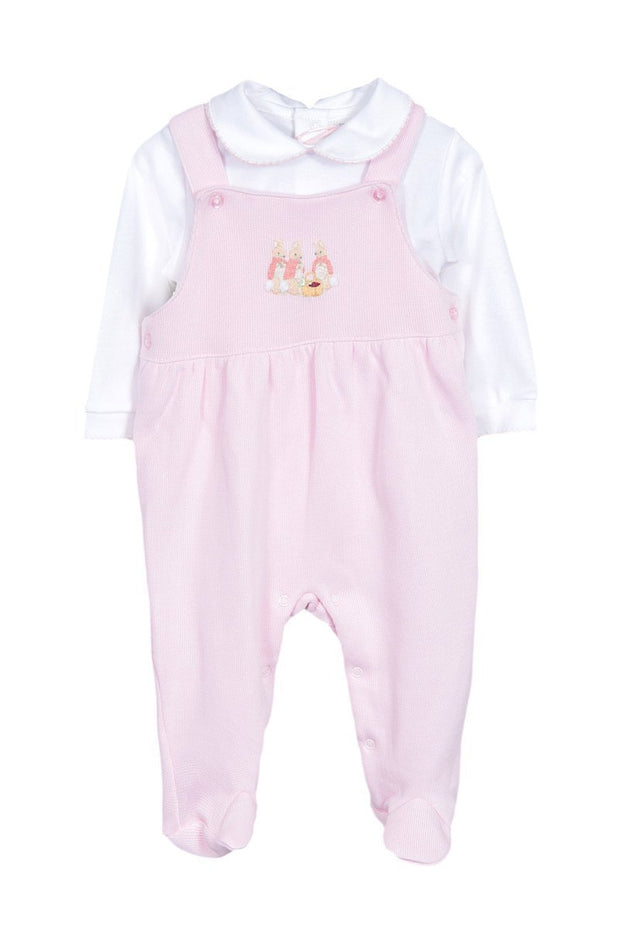 Flopsy Bunny Knitted Dungarees With Bodysuit - Jacob Matthews
