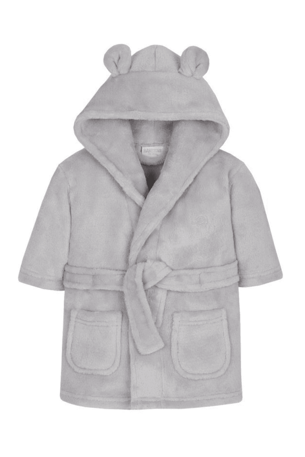 Grey Embroidered Dressing Gown - Jacob Matthews