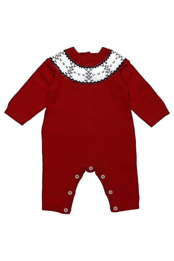 Emile Et Rose Red Fairisle All In One