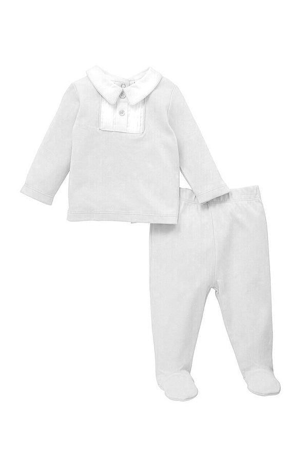 Jacob Matthews Grey Cotton Two Piece Set