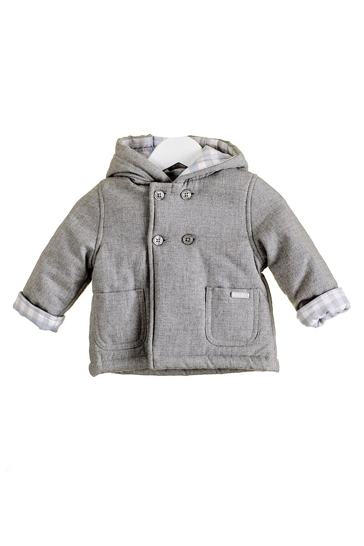 Grey Woven Hooded Jacket