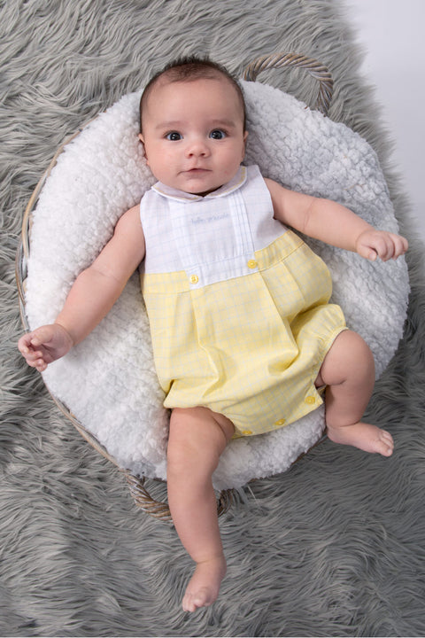 Yellow Check Romper