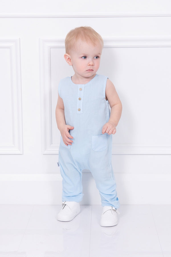Babidu Blue Pocket Romper