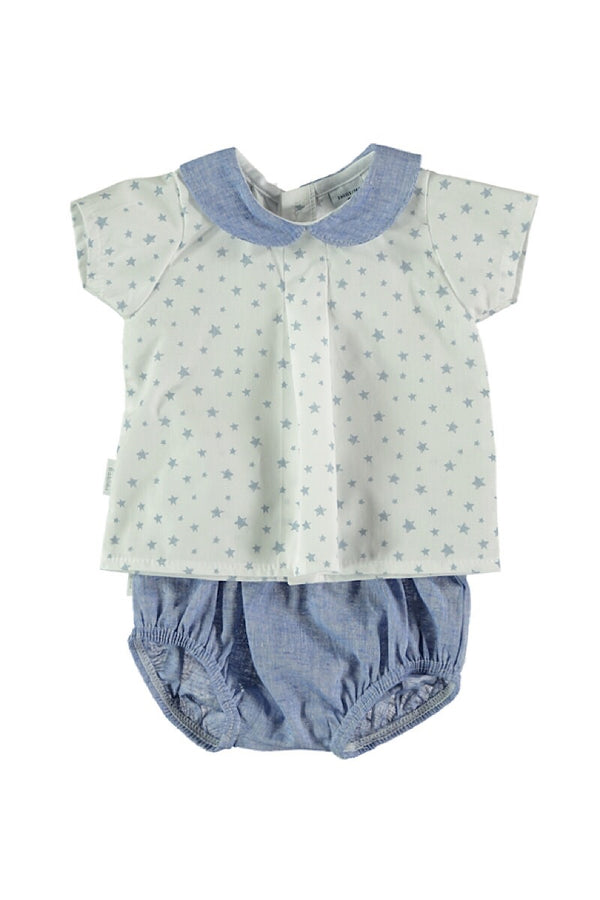 Babidu Blue Star Top And Shorts