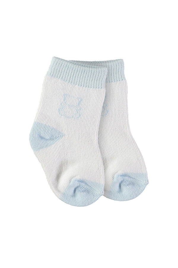 2pck Emile Et Rose Blue And White Bear Socks