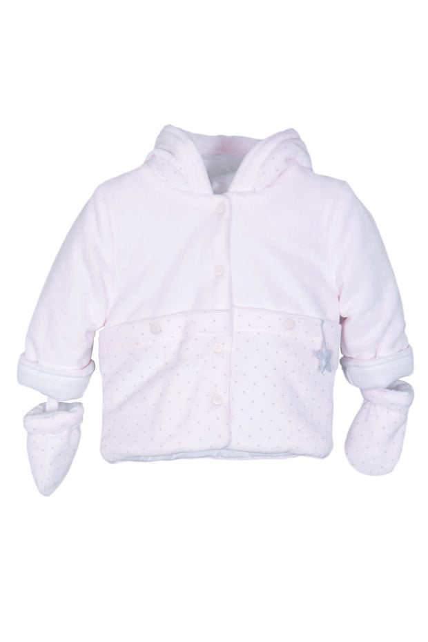 Pink Dot Velour Jacket