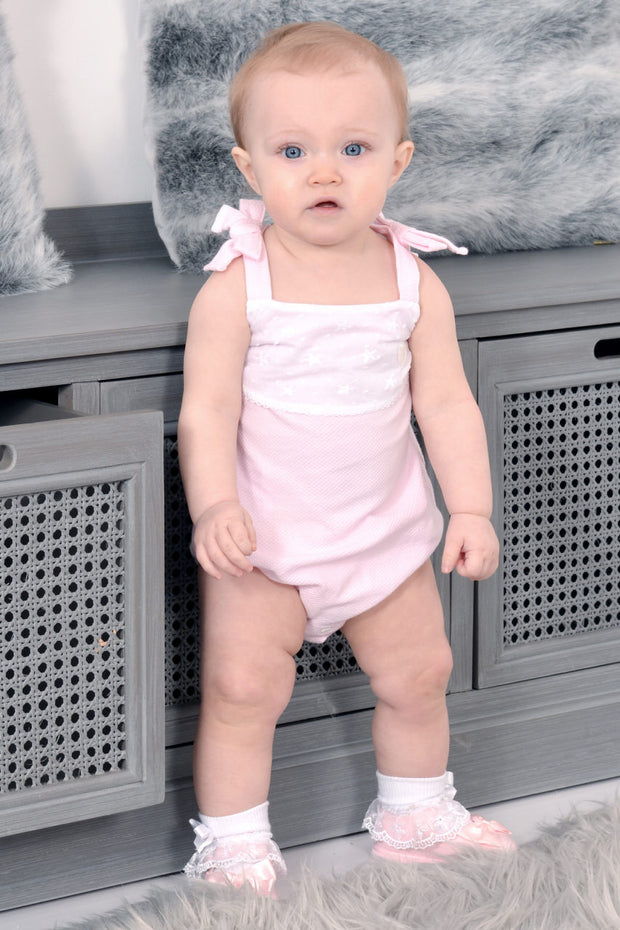 Pink Star Layover Romper