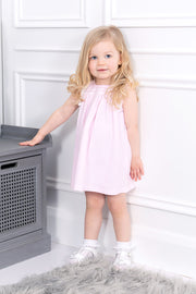 Pink Smocked Dress And Bloomers
