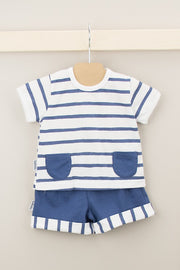 Navy Stripe Pocket Outfit