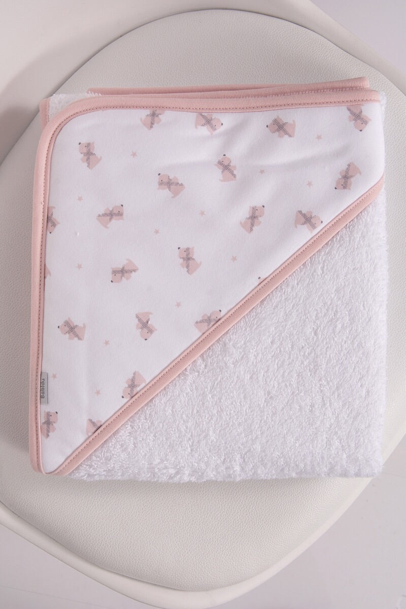 Babidu Pink Dog Design Towel