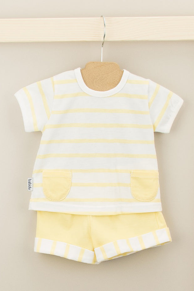 Yellow Stripe Pocket Outfit