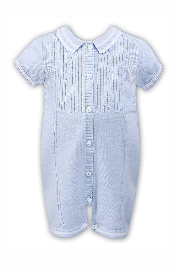 Sarah Louise Blue Cable Knit Romper