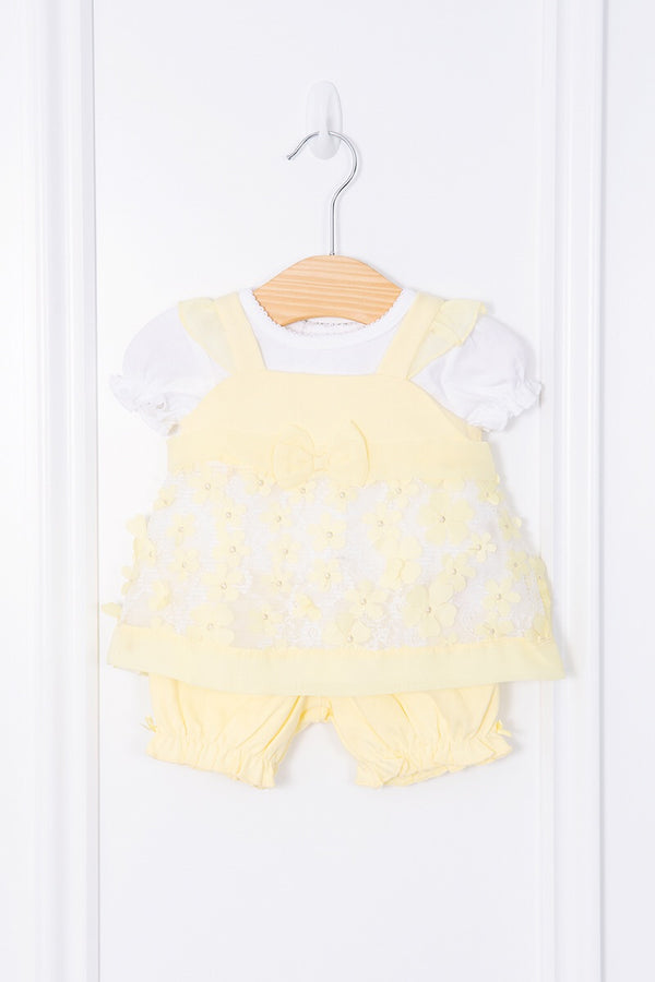 Mintini Lemon Floral Dress, Top And Bloomers