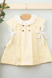 Yellow Side Bow Dress