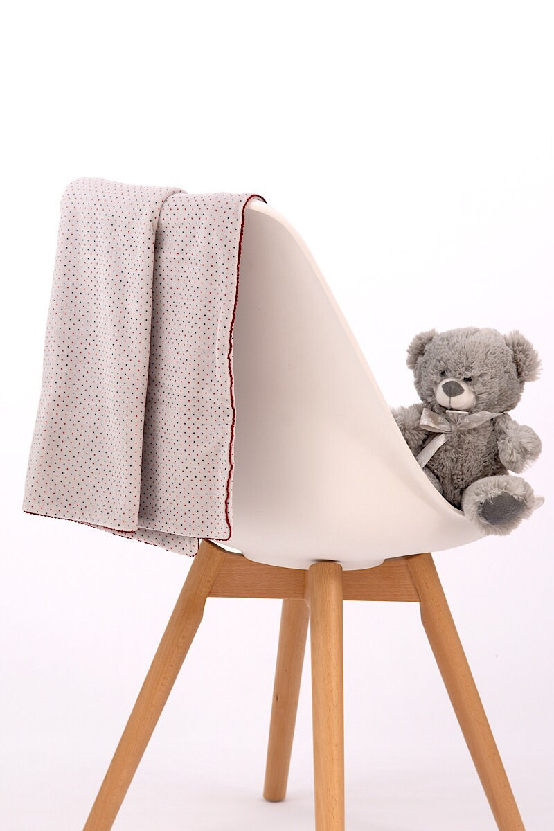 Babidu Grey Spotted Blanket