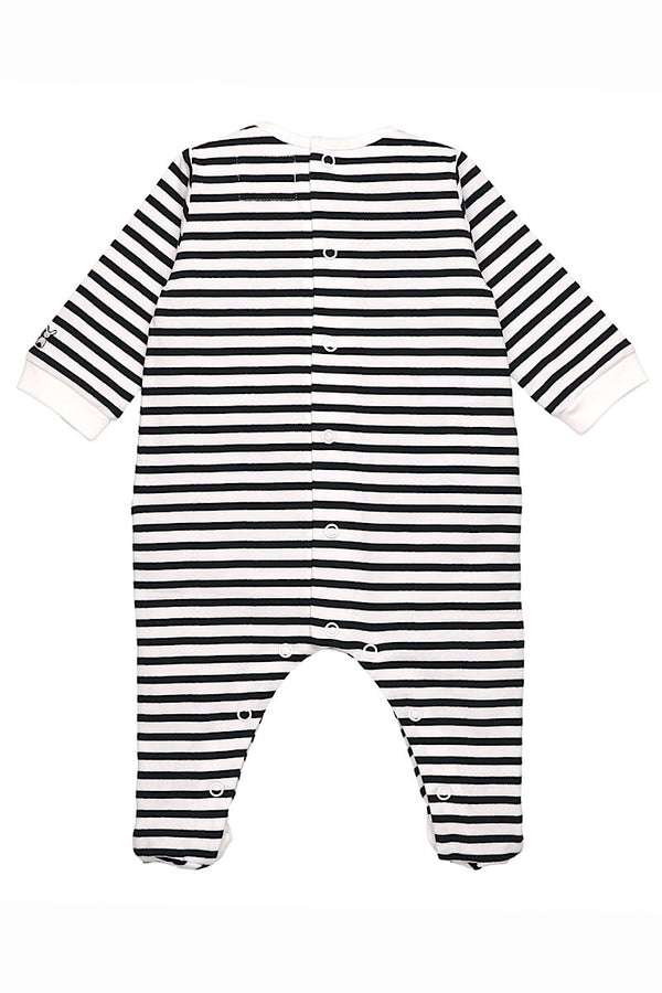 Emile Et Rose Navy Stripe Embroidered All In One
