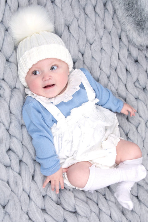 Blue Bunny Jumper And Dungarees