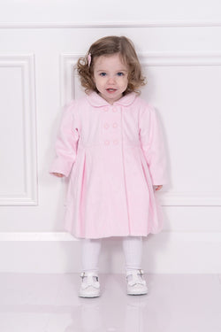 Emile Et Rose Pink Velour Coat With Beret