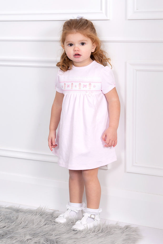 Pink Ballerina Smocked Dress And Bloomers