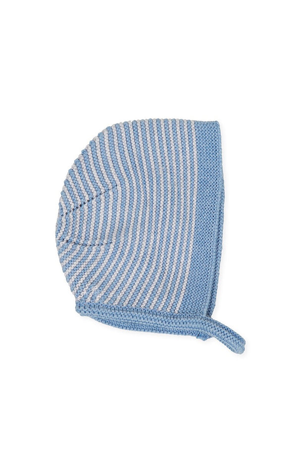 Blue Knitted Bonnet