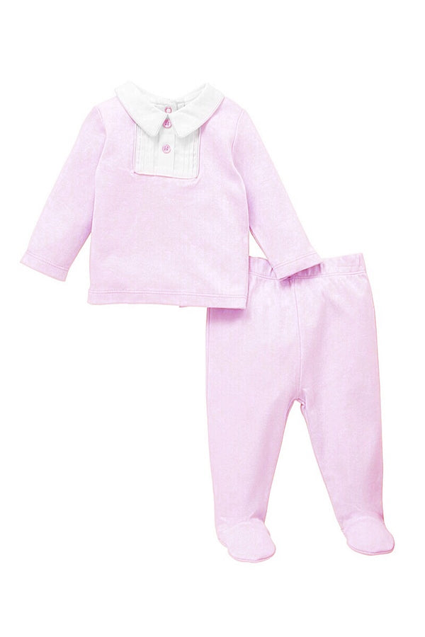 Jacob Matthews Pink Cotton Two Piece Set