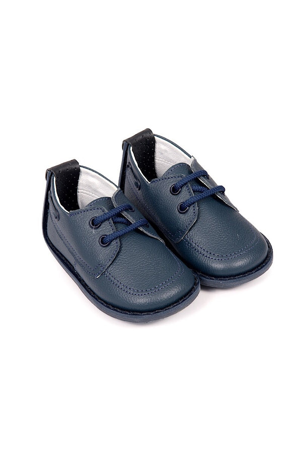 Pex Diego Navy Classic Flat Lace Up Shoes