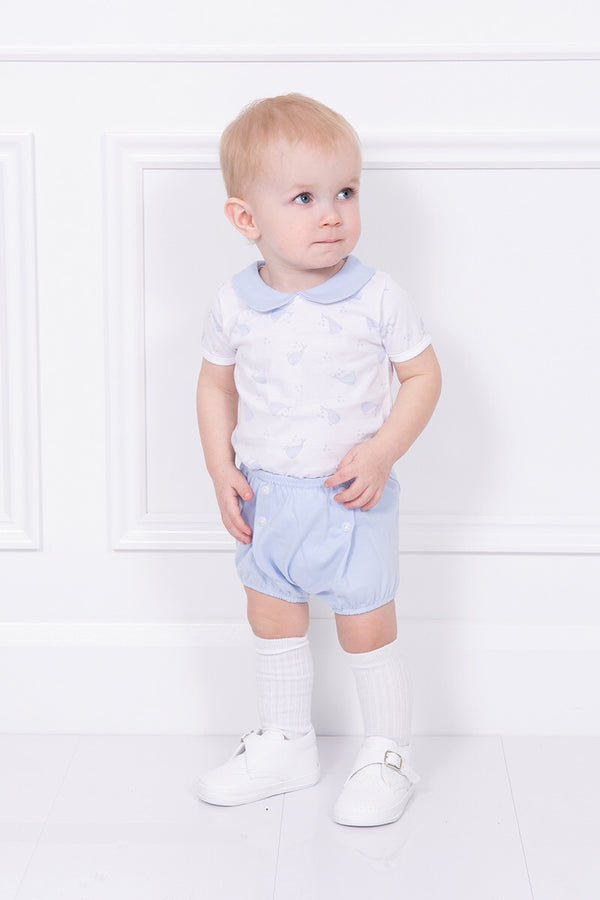 Babidu Blue Whale Design Top And Shorts