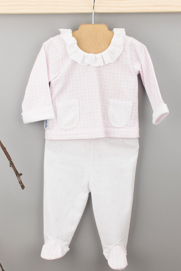 Pink And White Check Outfit