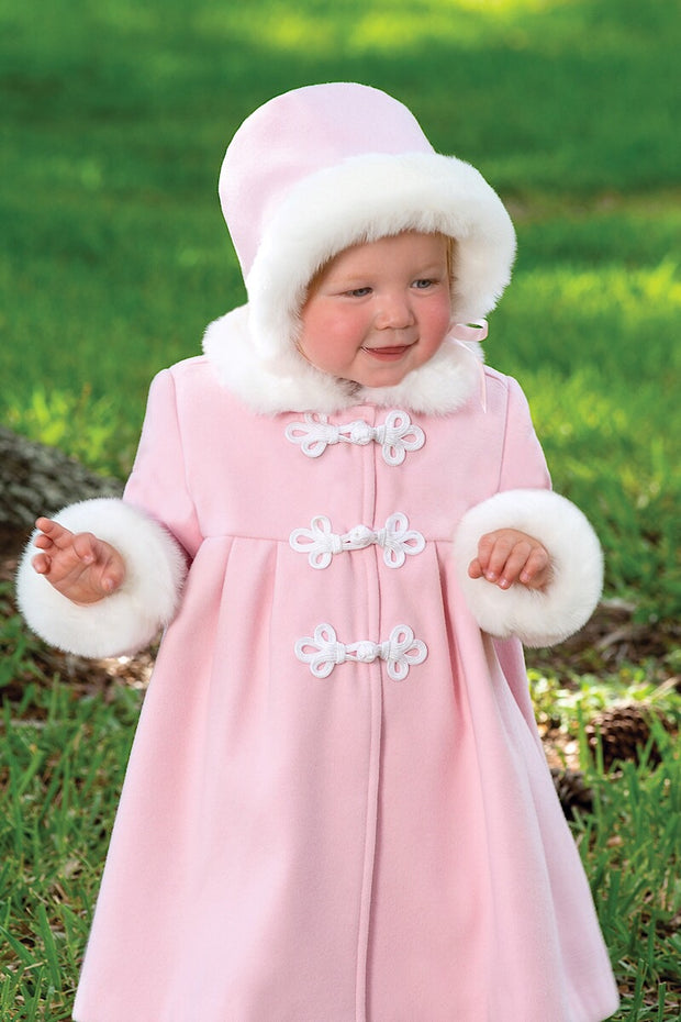 Pink Coat And Bonnet