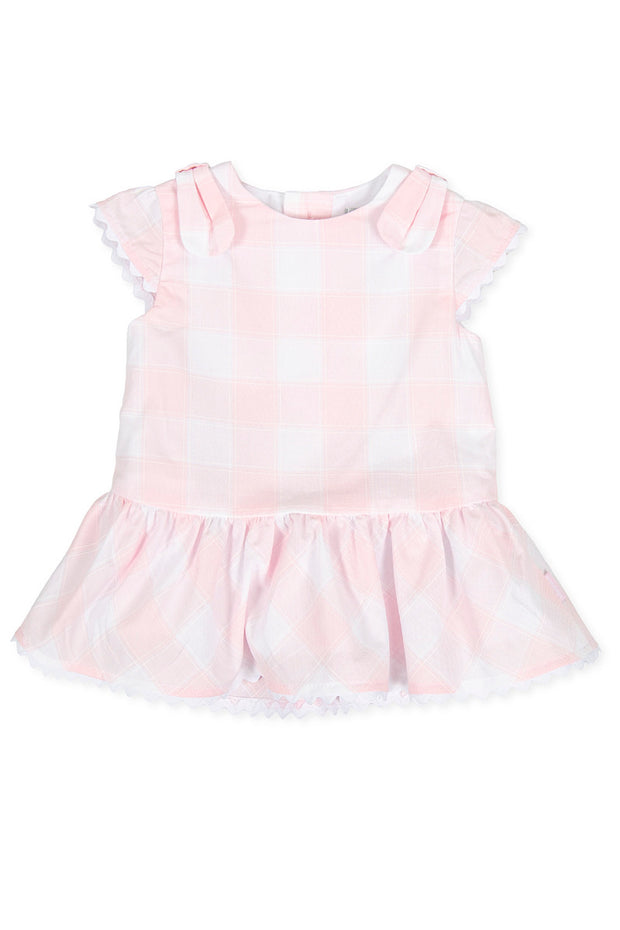 Pink Check Bow Dress