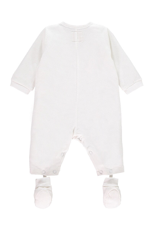 Emile Et Rose White Waffle All In One With Detachable Booties