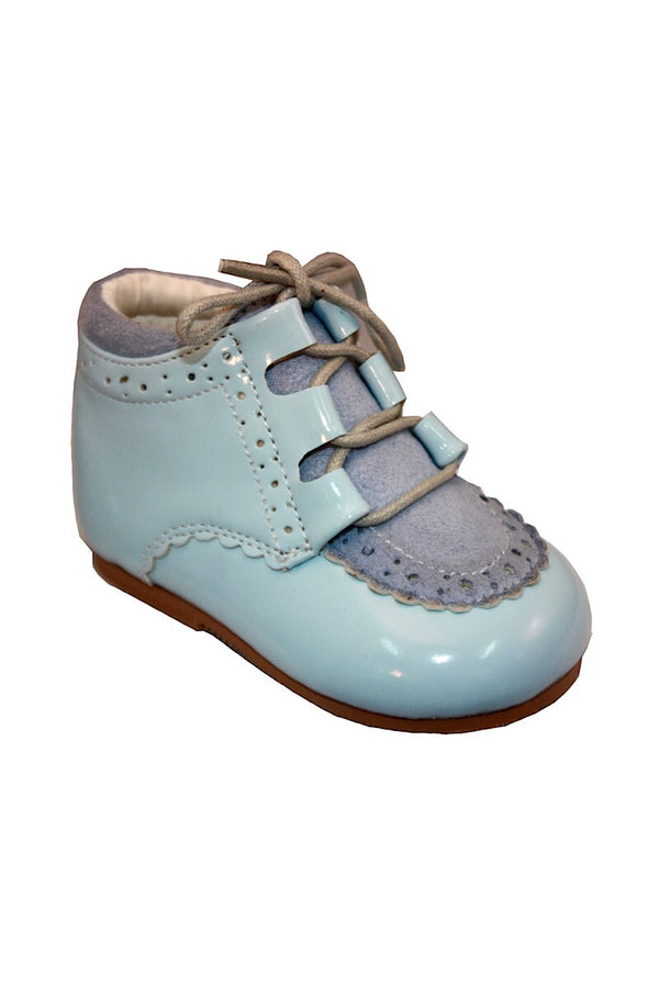 Sky Blue Laced Hard Sole Shoes