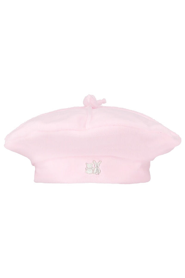 Pink Velour Coat With Hat