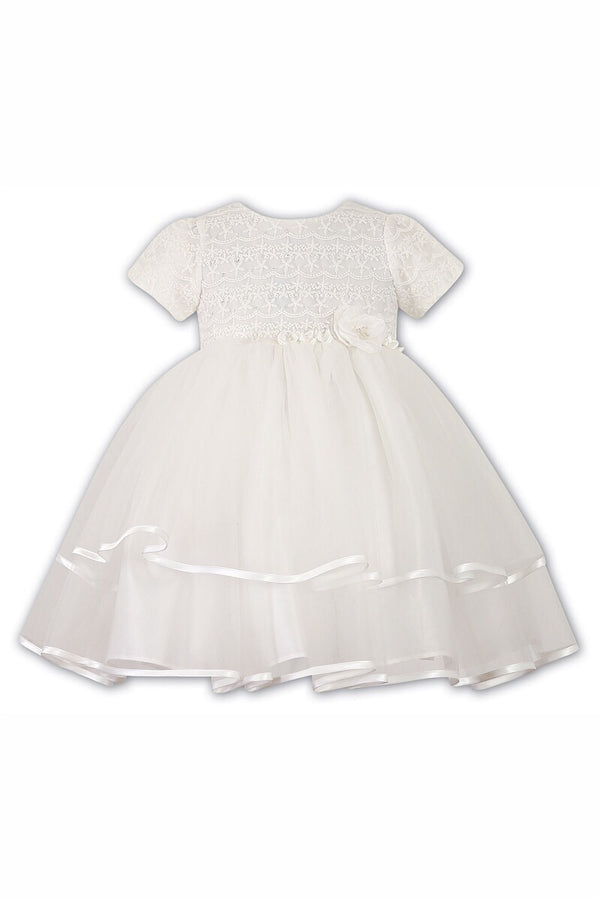 Sarah Louise Ivory Ceremonial Laced Ballerina Dress