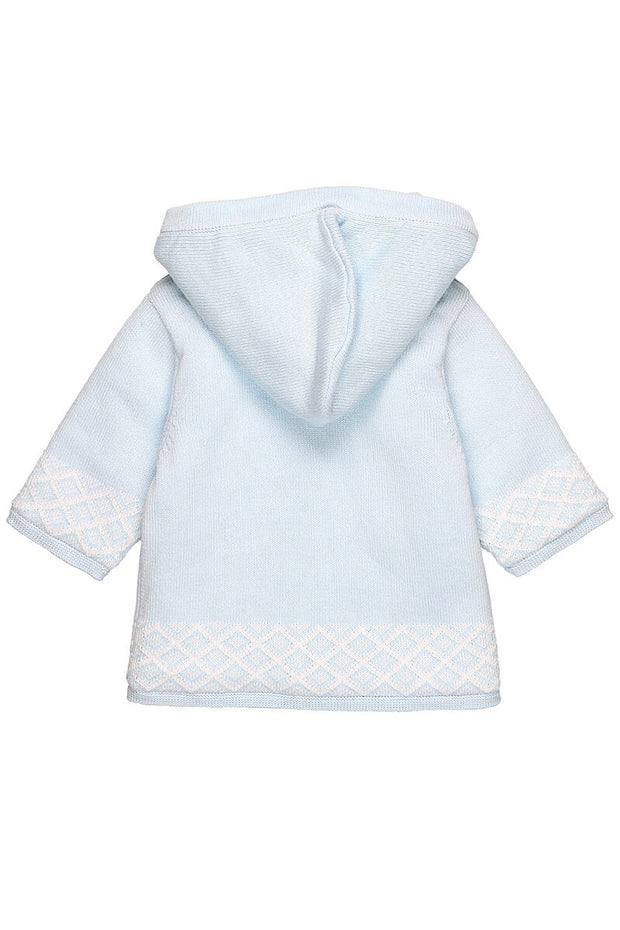 Blue Diamond Knit Jacket