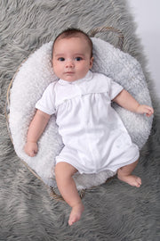 White Bear Embroidered Romper