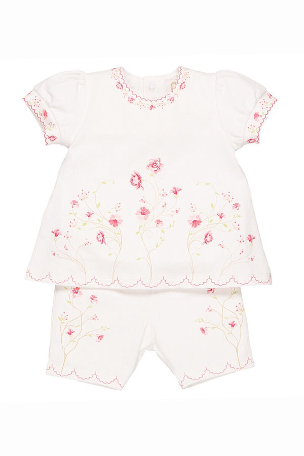 Emile Et Rose Floral Top And Shorts