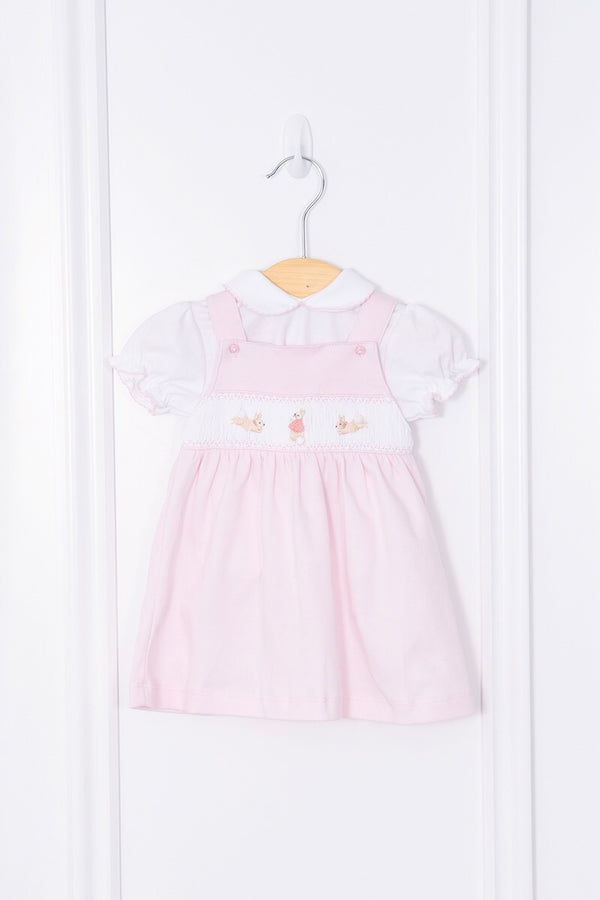 5098eed4c29c Flopsy Bunny Hand Embroidered Pinafore Dress With Frill Bloomers