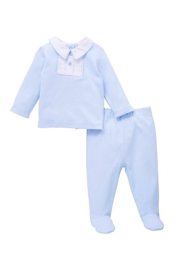 Jacob Matthews Blue Cotton Two Piece Set